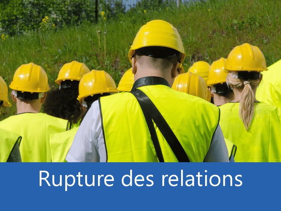 rupture des relation chantier 33, problème durant le chantier Bordeaux, stress chantier Gironde, problème durant le chantier 33,