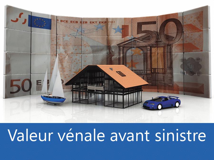 Valeur vénal avant sinistre 33, valeur des biens assurance Bordeaux, expert valeur vénale Gironde,